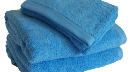 Drap de douche Bleu Cyclades