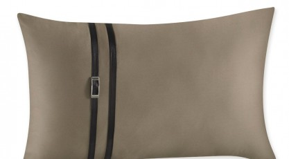 Taie de coussin KIM  N. Marron glacé Collection Satin