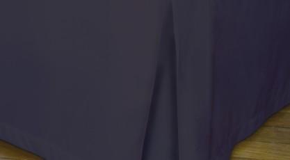 Cache sommier de couleur prune violet