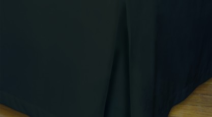Cache sommier de couleur noir