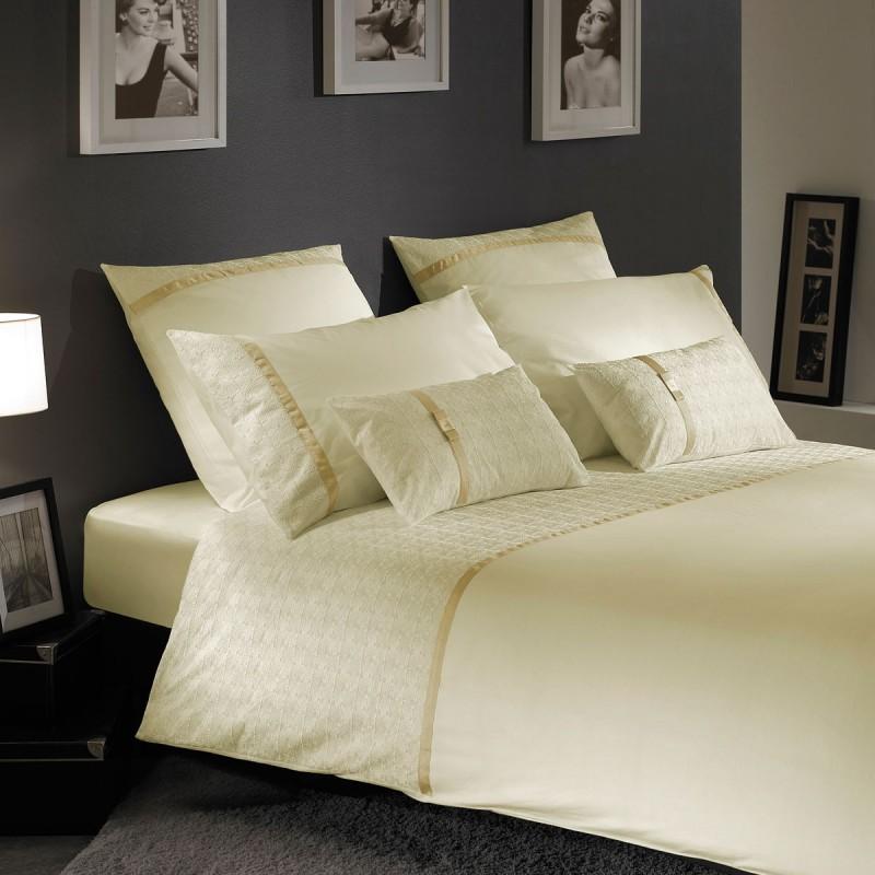 housse de couette natalie w brod e ivoire liou. Black Bedroom Furniture Sets. Home Design Ideas